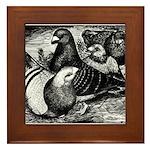 Giant Homer Pigeons Framed Tile