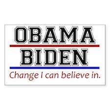 Obama Biden Change Decal