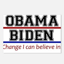 Obama Biden Change Postcards (Package of 8)