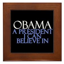 Believe in Obama Framed Tile
