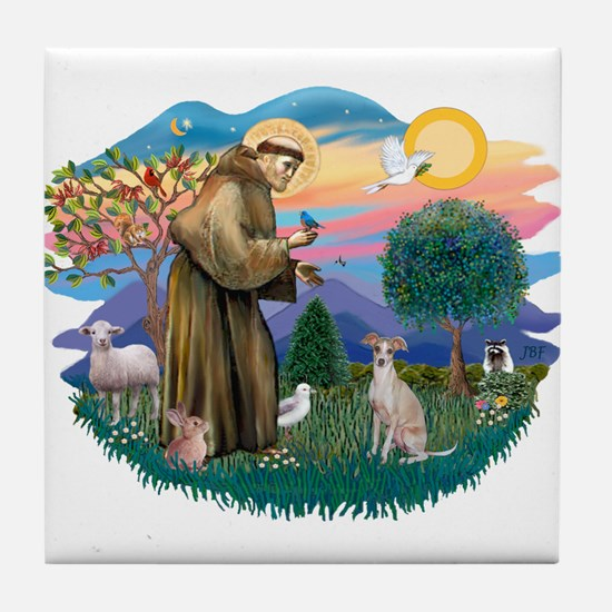 St. Fran #2/ Italian Greyhound (#1) Tile Coaster