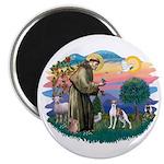 St. Francis #2 / Italian Greyhound Magnet