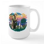 St. Francis #2 / Italian Greyhound Large Mug
