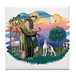 St. Francis #2 / Italian Greyhound Tile Coaster