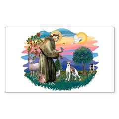 St. Francis #2 / Italian Greyhound Decal