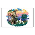 St. Francis #2 / Italian Greyhound Sticker (Rectan