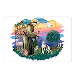 St. Francis #2 / Italian Greyhound Postcards (Pack