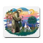 St. Francis #2 / Italian Greyhound Mousepad