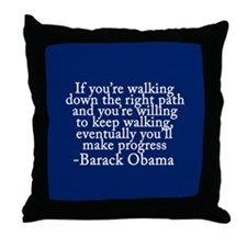 Progressive Obama Throw Pillow