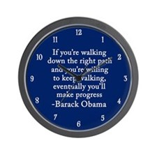 Progressive Obama Wall Clock