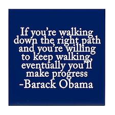 Progressive Obama Tile Coaster
