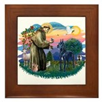 St. Fran #2/ Blue Great Dane Framed Tile