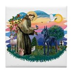 St. Fran #2/ Blue Great Dane Tile Coaster