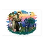 St. Fran #2/ Blue Great Dane Postcards (Package of