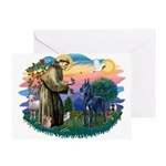 St. Fran #2/ Blue Great Dane Greeting Card