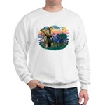 St. Fran #2/ Blue Great Dane Sweatshirt