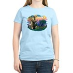 St. Fran #2/ Blue Great Dane Women's Light T-Shirt
