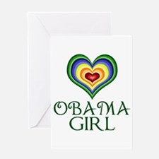 Obama Girl Greeting Card