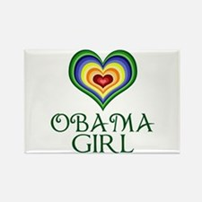 Obama Girl Rectangle Magnet