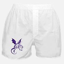 Jabberwocky Purple Boxer Shorts