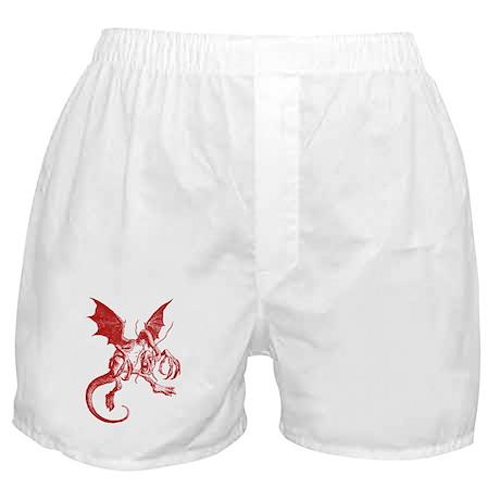 Jabberwocky Red Boxer Shorts