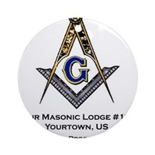 Custom Blue Lodge Products Ornament (Round)