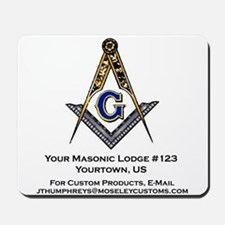 Custom Blue Lodge Products Mousepad