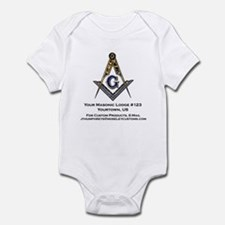 Custom Blue Lodge Products Infant Bodysuit