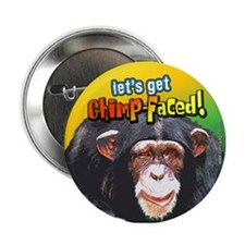 "ChimpFaced... 2.25"" Button"