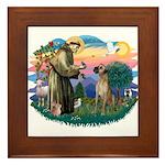 St. Fran. #2 / Great Dane (nat) Framed Tile