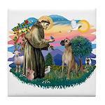 St. Fran. #2 / Great Dane (nat) Tile Coaster