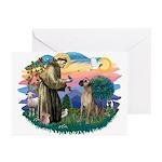 St. Fran. #2 / Great Dane (nat) Greeting Cards (Pk