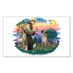 St. Fran. #2 / Great Dane (nat) Sticker (Rectangle