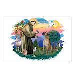 St. Fran. #2 / Great Dane (nat) Postcards (Package