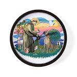 St. Fran. #2 / Great Dane (nat) Wall Clock