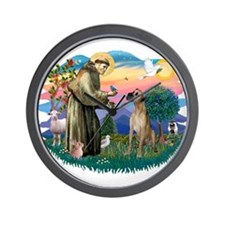 St. Fran. #2 / Great Dane (nat) Wall Clock