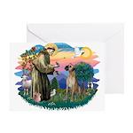 St. Fran. #2 / Great Dane (nat) Greeting Card