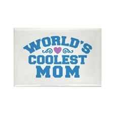 World's Coolest Mom Rectangle Magnet