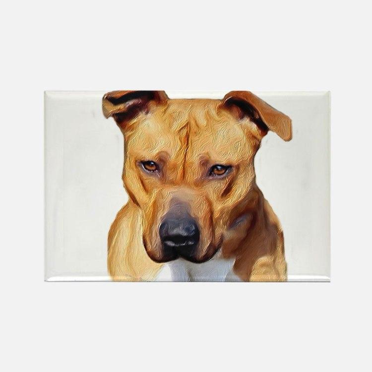 Pitbull Rectangle Magnet (100 pack)