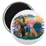St. Fran #2/ Greyhound (lt.red) Magnet