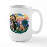 St. Fran #2/ Greyhound (lt.red) Large Mug