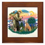 St. Fran #2/ Greyhound (lt.red) Framed Tile