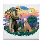 St. Fran #2/ Greyhound (lt.red) Tile Coaster