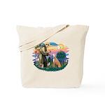 St. Fran #2/ Greyhound (lt.red) Tote Bag