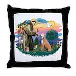 St. Fran #2/ Greyhound (lt.red) Throw Pillow