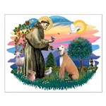 St. Fran #2/ Greyhound (lt.red) Small Poster