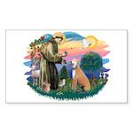 St. Fran #2/ Greyhound (lt.red) Sticker (Rectangle