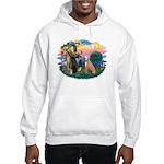 St. Fran #2/ Greyhound (lt.red) Hooded Sweatshirt