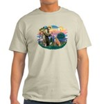 St. Fran #2/ Greyhound (lt.red) Light T-Shirt