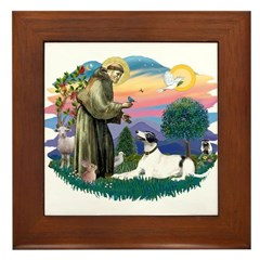 St. Fran. #2/ Greyhound (bw) Framed Tile
